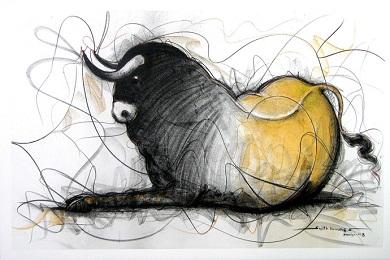 Bull drawing 390x260