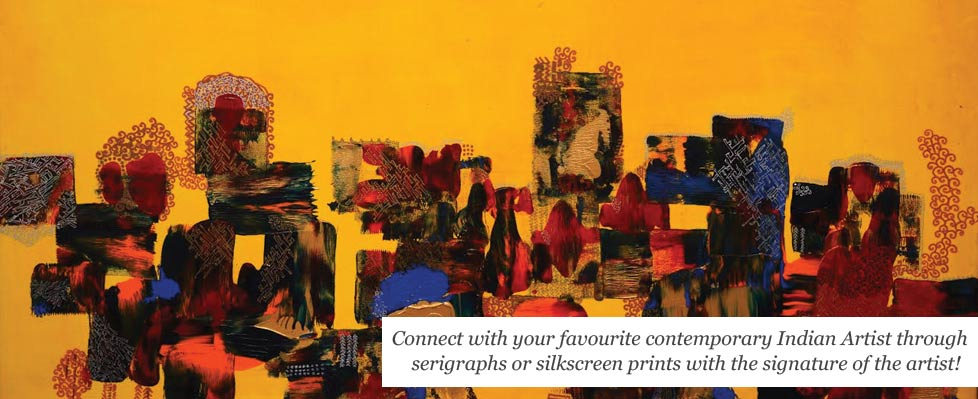 Serigraphs by Leading Contemporary Indian Artists  Exhibition on Mojarto