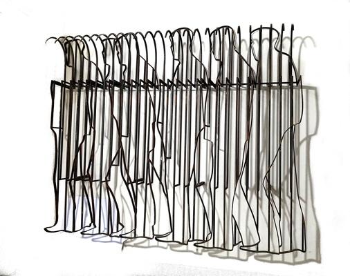 Sumedh Rajendran, 71 x 61 x 18 inches, Steel, 2018