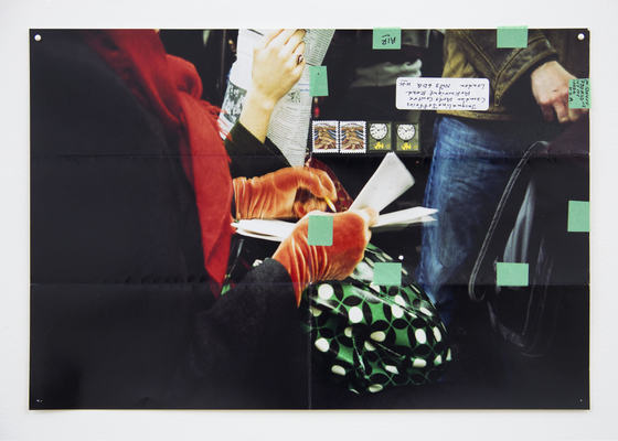 Details from Subway Writers from Moyra Davey, Photo Courtesy: Gallery Buchholz ,Berlin