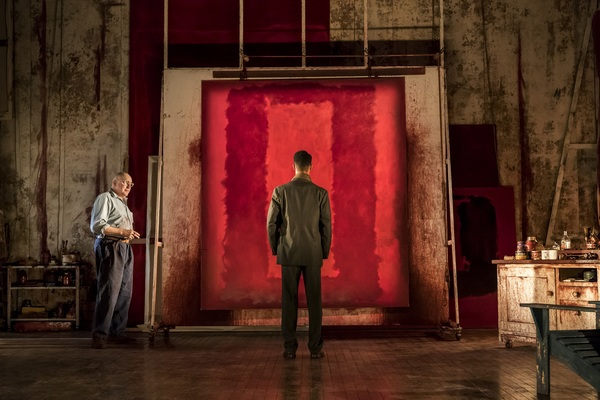 Alfred Molina (Mark Rothko) and Alfred Enoch (Ken). Photograph by Johan Persson.