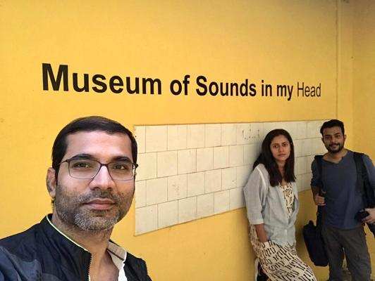 Sneha Khalwalkar at her 'Museum of Sounds In My Head' at Serendipity Arts Festival in Goa