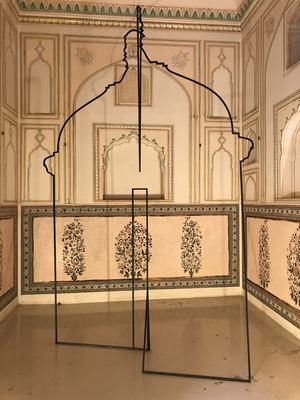 Ayesha Singh, Hybrid Drawings and (Warp), Wrought iron, 9 ft x width variable - Reference Image