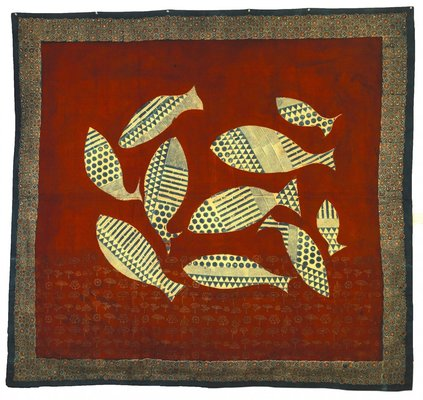 Fish Series by Shelly Jyoti, Ajrakh Printing and Dyeing on Khadi