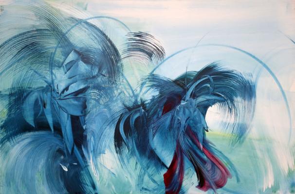 Le bruit de l'eau, Acrylic on canvas, Monique Orsini, Courtsey of Artsy.net