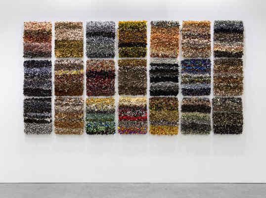 Joël Andrianomearisoa, Les Vestiges de L'extase, Mixed Media, Textiles,