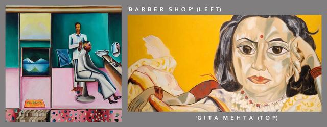 'Barber Shop' (Left) 'Gita Mehta' (Top)