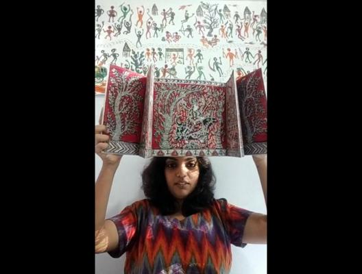 Mata ni Pachedi, textile print made in collaboration with artist Jagdish Chitara