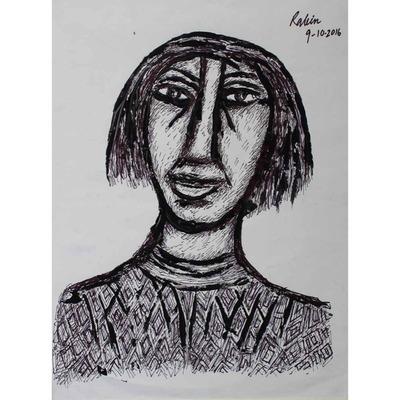 Rabin Mondal, Untitled, Acrylic on paper, 22ʺ x 18ʺ.