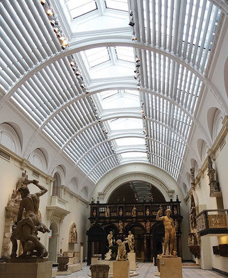 The Sculpture Gallery is the archetype of the classical western museum, even though the V&A itself is possibly one of the most innovative museums in the world, turning the conceived notions of what a museum is on its head. V&A, London