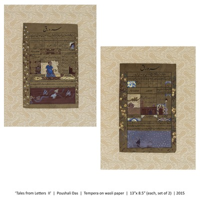 'Tales From Letter II   Poushali Das   Tempera On wasli Paper  