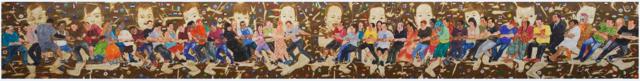 jalaja (1) PS. Jalaja, Tug of War, Watercolour on paper, 30′ x 4′, 2013.v