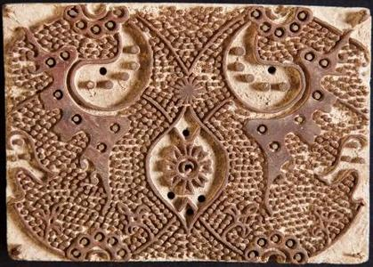 One of Shelly Jyoti's antique woodblocks