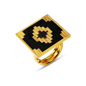 IKAT SQUARE RING Ring By ESA