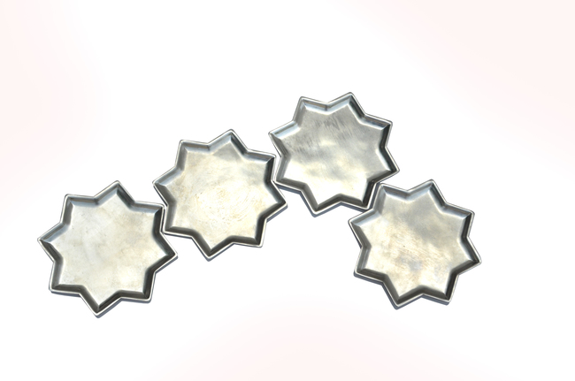 8 point star plate set of 4