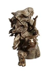 Maheshwari by Seema Kohli, Art Deco Sculpture | 3D, Bronze, White color