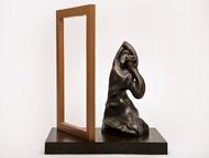 Shringaar by Manjari Goenka, Art Deco Sculpture | 3D, Bronze, Gray color