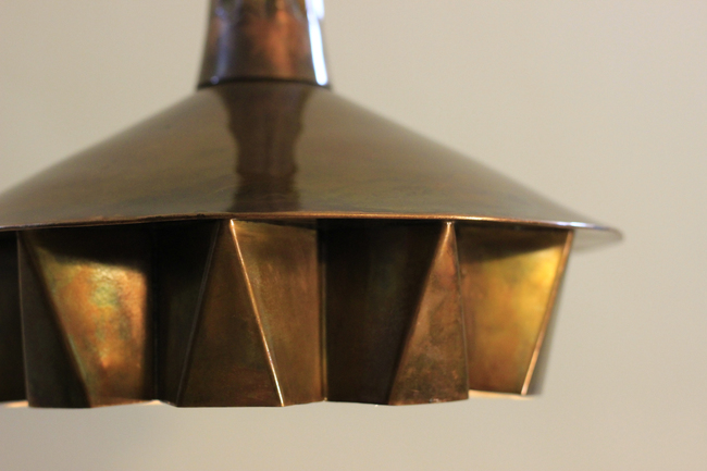 Pintuck lamp 01   antique copper finish 03