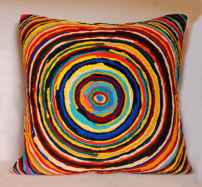Chakri   multicolor    cushion cover  20 x 20  2