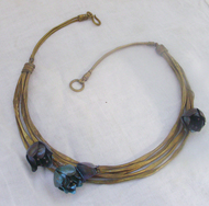 Blue collar by Chicory Chai, Art Jewellery, Contemporary Necklace