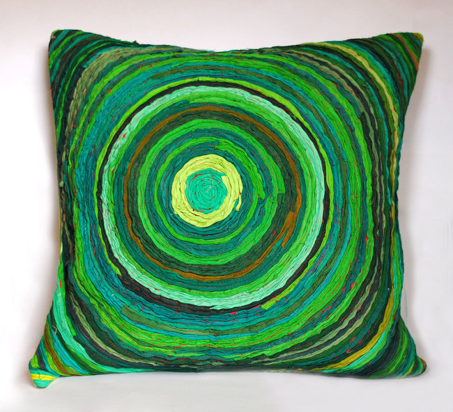 Chakri   green     cushion cover  18 x 18  2