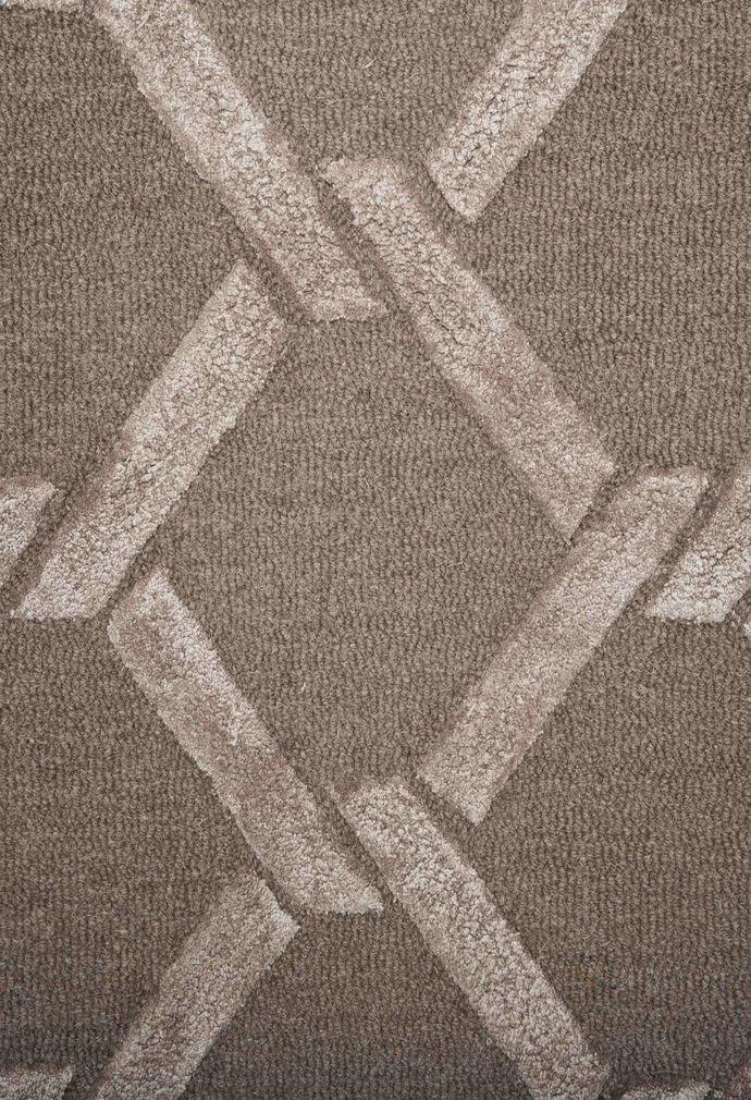 Imperial Knots Beige Brown Links Handtufted Carpet Carpet and Rug By Imperial Knots
