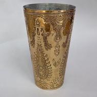 Nafees Lassi Glass Boota Brass Serveware By AnanTaya