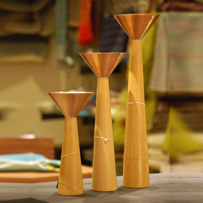 Cu Stone Candlestand L-Y Candle Stand By AnanTaya