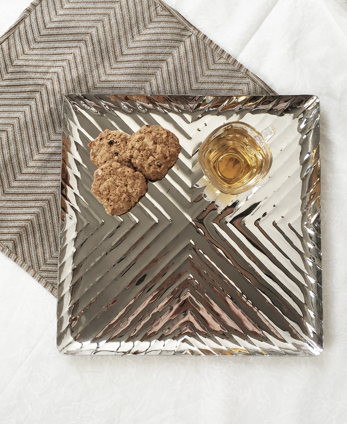 Chevron Square Tray Table Ware By Mudita Mull