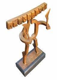 Supremacy by Sukanta Chowdhury, Art Deco Sculpture | 3D, Bronze, White color