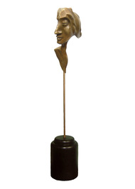 Meditation by Sukanta Chowdhury, Expressionism Sculpture | 3D, Bronze, White color
