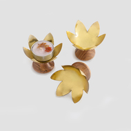 Lotus Blossom T-Light and Votive Holder By Studio Saswata