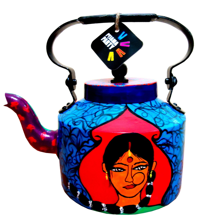 Limited Edition kettle- Indian lady love Serveware By Pyjama Party Studio