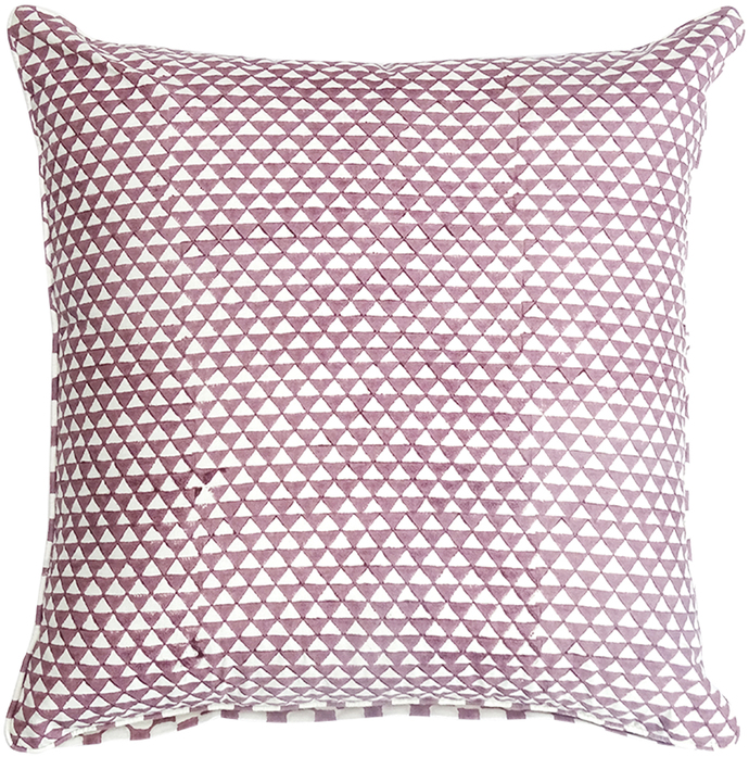 IKKA DUKKA HAND BLOCKED PLUM CUSHION COVER Cushion Cover By Ikka Dukka Studio Pvt Ltd