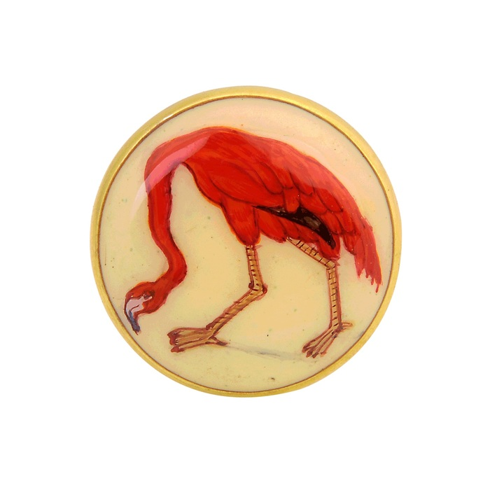 SIGNATURE FLAMINGO CUFFLINKS by Ikka Dukka Studio Pvt Ltd, Contemporary Button/Cufflink