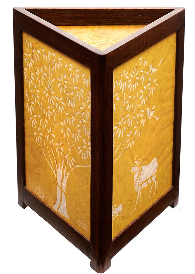 J sanjhi lamp tol yellow b 2