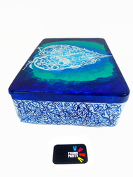 Trippy Trinket boxes- handpainted keepsake box Love and Light Decorative Box By Pyjama Party Studio