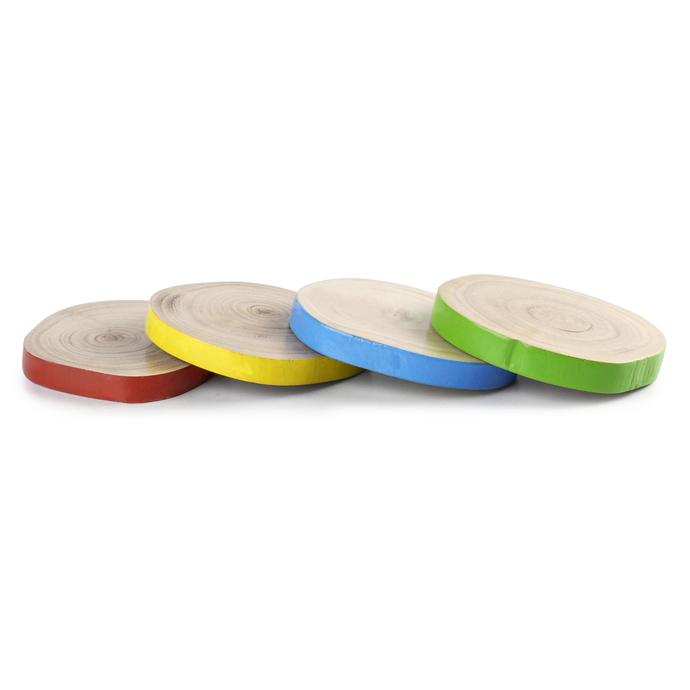 PoppadumArt Rustic Wood Coasters Accessories By PoppadumArt