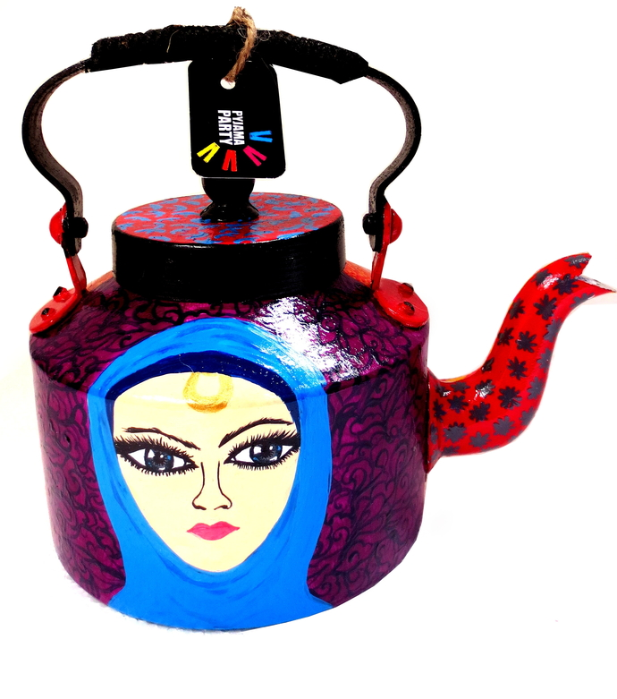 Premium hand-painted kettle- Arabian Nights 1 Serveware By Pyjama Party Studio