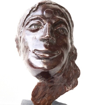 Delighted by Usha Ramachandran, Expressionism Sculpture | 3D, Bronze, Brown color