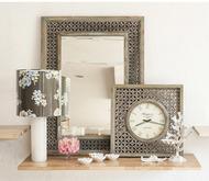 Wooden Distressed Mirror Wall Decor By CellarDoor