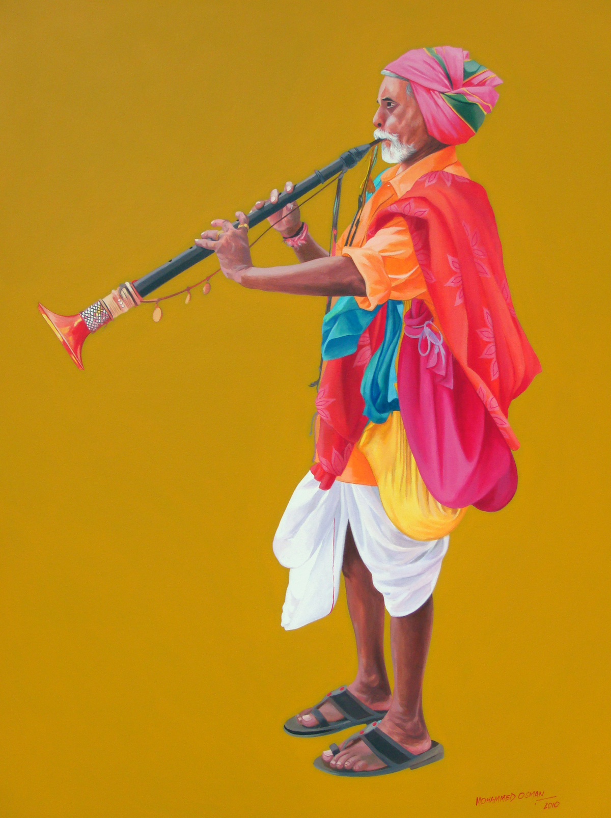 Haridasu 2 by Mohammed Osman, Impressionism Painting, Acrylic on Canvas,