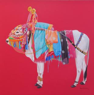 gangireddu Digital Print by Mohammed Osman,Realism