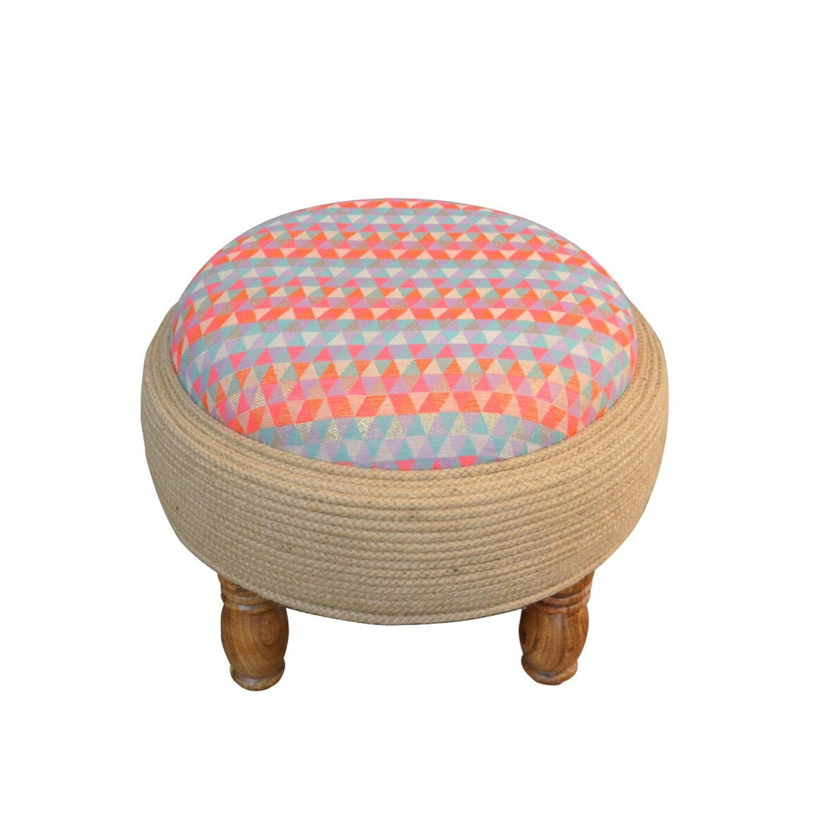 SPARKLE ON OTTOMAN Furniture By Desi Jugaad