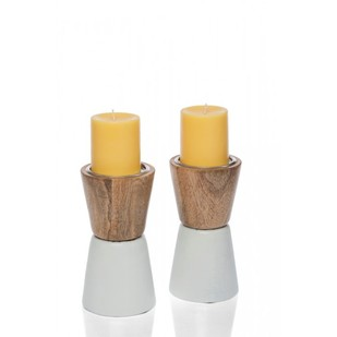 Wooden Candle Holder Candle Stand By CellarDoor