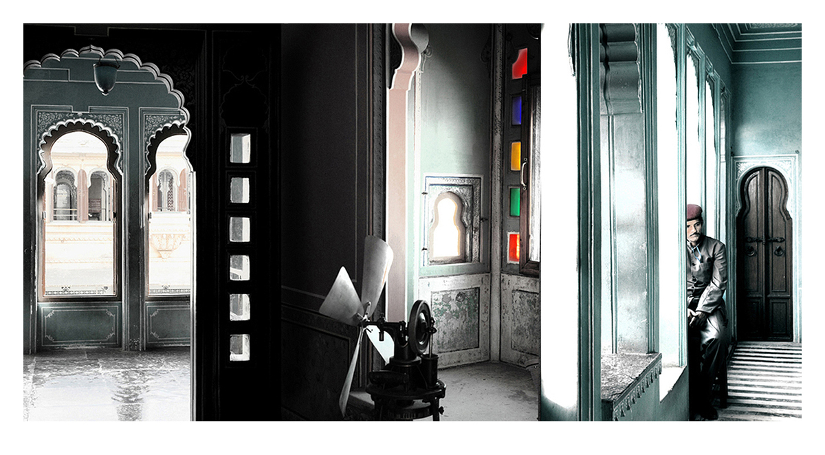Udaipur Palace1 by Ramona Singh, Image Photography, Digital Print on Archival Paper, Grey color