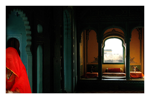 Udaipur Palace 2 by Ramona Singh, Image Photography, Digital Print on Archival Paper, Red color