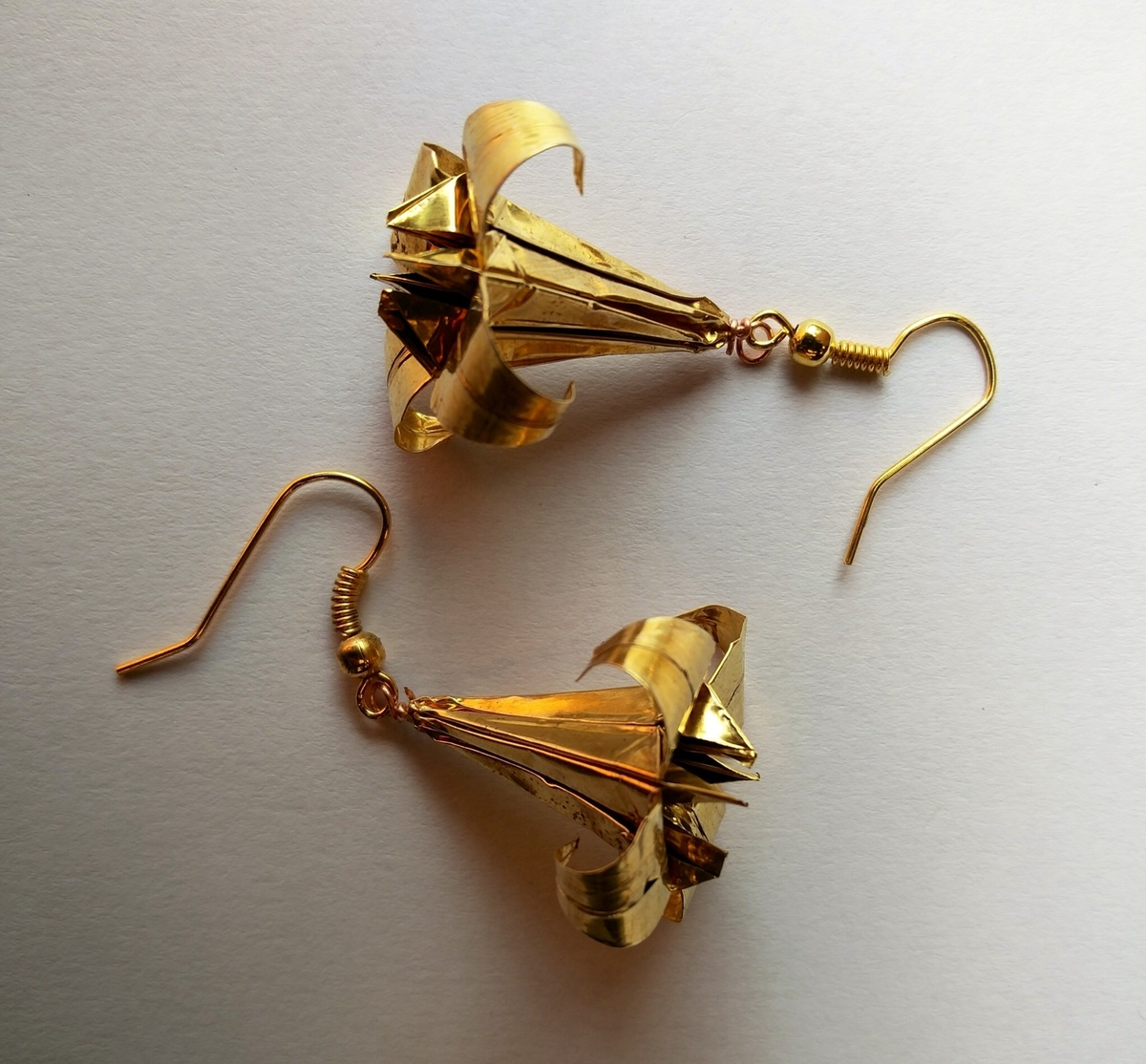 Origami Lily Earrings by SITE art store, Art Jewellery, Contemporary Earring