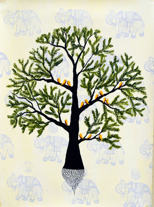 Lagpravya by Sumit Mehndiratta, Decorative Painting, Acrylic on Paper,