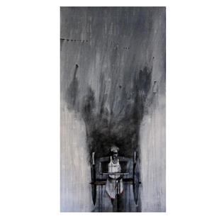 cycle rickshaw 01 by Ganesh Jadhav , Pop Art Painting, Acrylic on Canvas,